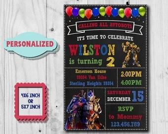 transformers invite | etsy, Birthday invitations
