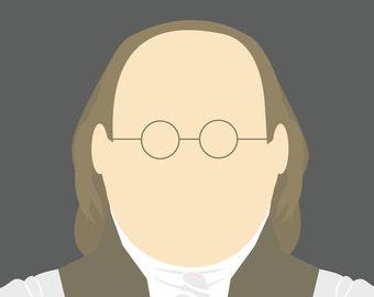 Minimalist Benjamin Franklin