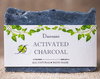 Handmade Soap, All Natural Soap, Activated Charcoal Soap, Detox Soap, Vegan Soap, Gift for him, Gift for her, Cedar