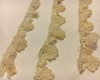 Vintage cream handmade lace