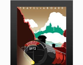 Hogwarts Travel Poster