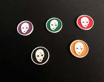 Malifaux Neverborn Scheme Marker (x6) 30mm Mask #1