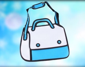 3D, Cartoon bag  Simple Blue