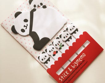 Kawaii Panda Sticky Notes, Planner Accessories, Panda Post It Notes