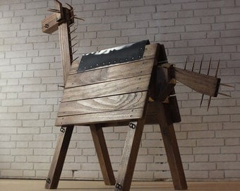 Doll BDSM furniture | Doll Dungeon furniture | Barbie BDSM | Dollhouse miniature | Mature | Barbie furniture | Doll wooden horse