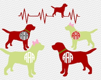 Labrador monogram dog SVG Clipart Cut Files Silhouette Cameo Svg for Cricut and Vinyl File cutting Digital cuts file DXF Png Pdf Eps