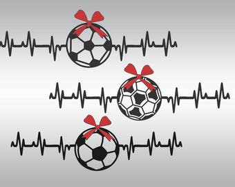 Soccer svg, Soccer mom svg, Soccerball svg, soccer silhouette, Heartbeat soccer svg, Soccer clipart,  Cricut, Cameo, Svg, DXF, Png, Pdf, Eps