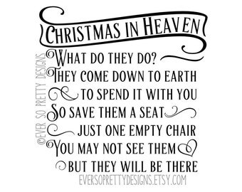 This is a graphic of Transformative Christmas in Heaven Poem Printable