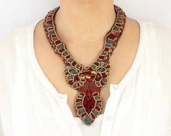 Unique Design Bohemian Boho Necklace | Easter Gift for Her - Moms, Mothers, Girlfriends, Best Friends / BH35