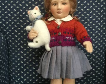 R. John Wright Lisa Felt Doll Little Children Series