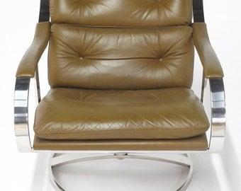 Gardner Leaver for Steelcase Mid-Century Lounge Chair, Steelcase Lounge Chair, Mid Century Leather Chair, Gardner leaver Chair, Accent Chair