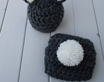 Baby Bunny Hat Crochet Bunny Set Crochet Baby Outfit Easter Bunny Hat Newborn Bunny Photo Prop Newborn Easter Prop