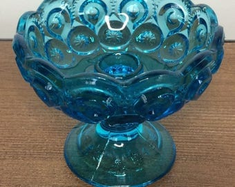 LE Smith Moon and Stars Blue Candle Holder