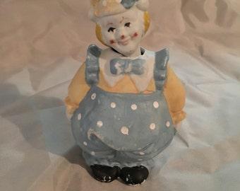 Vintage Nodder Bisque Bobblehead Clown