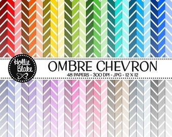 50% off SALE!! 48 Ombre Chevron Digital Paper • Rainbow Digital Paper • Commercial Use • Instant Download • #CHEVRON-101-2-O