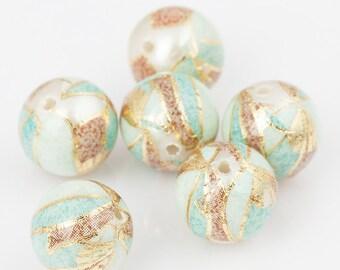 Tensha beads /Arylic flower beads , Japanese Tensha beas ,  10mm/12mm/14mm/16mm/18mm/20mm/22mm