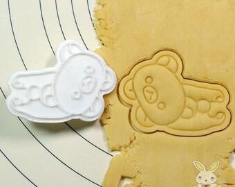 Facing down Rirakuma Cookie Cutter and Stamp