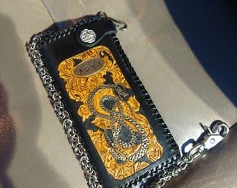 Men's Long Biker Wallet with Chain