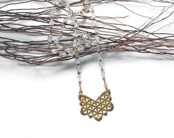 Necklace Rosary Golden Flower of life