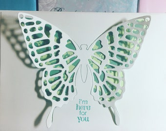 I'm here for you butterfly silhouette card