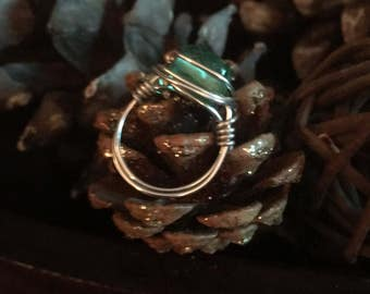 Wire wrapped ring.  Wire wrapped jewelry.  Ring. Jewelry.  Mother's Day gift.
