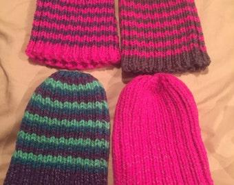 Reflective yarn knit hat