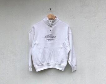 ELLESSE Vintage sportivo half button sweatshirt