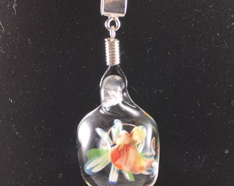 Hand-made borosilicate glass pendant - *blemish*