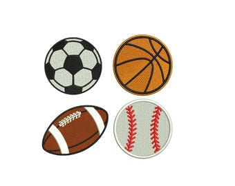 Baseball Embroidery Design - 4 designs instant download