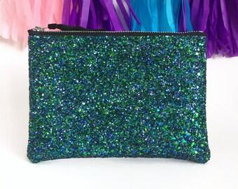 Mermaid Purse, Glitter Coin Purse, Mermaid Glitter Clutch Bag, Glitter Coin Purse, Oyster Card Holder, Glitter Wallet, Bridesmaid Clutch