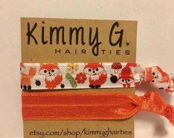 Fox elastic hair ties, party favors, birthday party favors, kid hair ties, hair tie set, fox elastic, fox hair ties, FOE