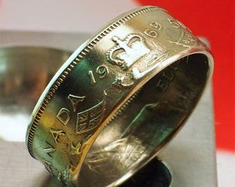 1969 Canadian, Half Dollar Coin Ring