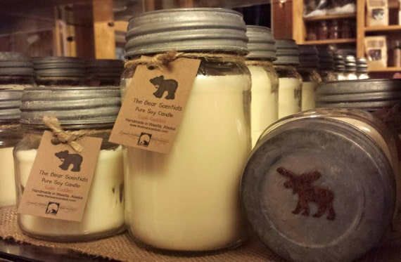 Square Mason Soy Candles