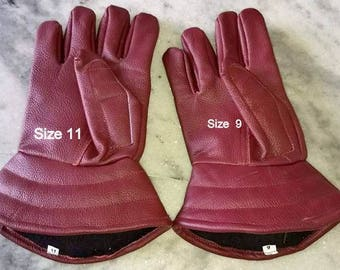 Padded Leather Gloves for Steel Gauntlets*