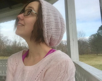 Simple Slouchy Crochet Beanie