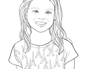 Personalized Coloring Pages - Email me your favorite image