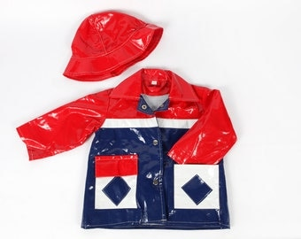 Vintage clothing-Rain jacket with Hat