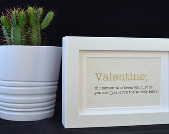Urban Dictionary Wall Art / Valentine Definition / Dictionary Art / Funny Definition / Word Art