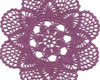 Vintage Handmade Crochet Doily Lace Doilies Wedding Decoration Home Decor Flower Mandala Dream Catcher Crocheted Round Purple Modern