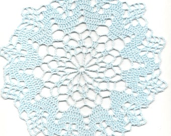 Crochet Doily Lace doilies Table Decoration Crocheted Doilies Centerpiece Handmade Wedding Doily Napkin Boho Bohemian Decor Round Light Blue
