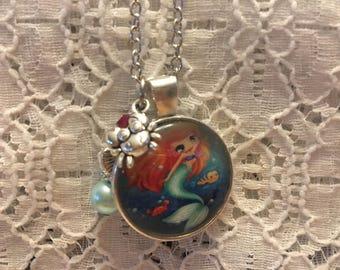 Little Ariel Charm Necklace/Ariel Charm Necklace/Mermaid Jewelry/Mermaid Pendant/Mermaid Necklace/Ariel Pendant/Disney Princess