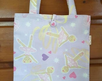 Library Bag - Girl - Ballet Bag - Dance Bag - Book Bag - Ballerina Mauve Pink