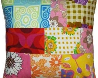 Pillow, Pillow Patchwork-Retro 2
