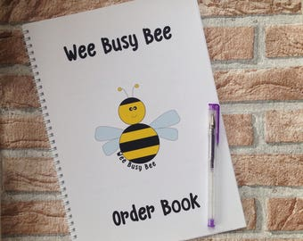 Business Order Book - Small Business - A4 - 50 pages - 2 per day - 200 orders