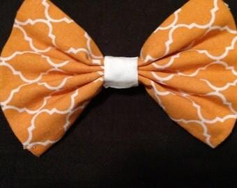Mini Orange Lattice Hairbow