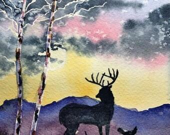 Lookout (Original Watercolor Painting)
