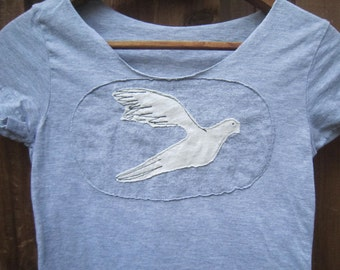 White Dove Scoop Neck Shirt