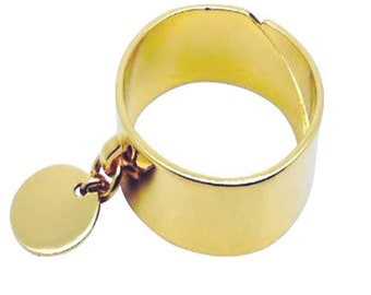 Gold-plated ring round hanging ring