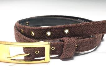 Vintage Brown Tweed Belt