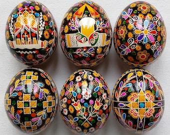 6 Real Ukrainian handmade Pysanky Easter Egg Ukraine Osterei Pysanka Pisanki egg shell